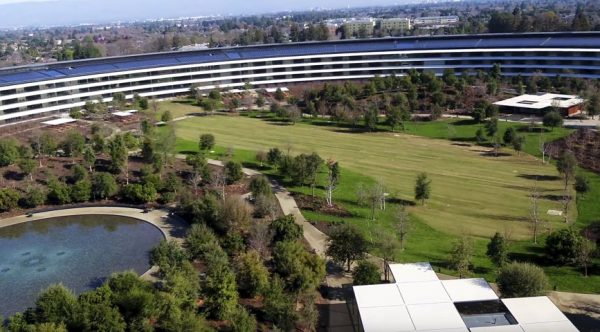 Apple Park a vista de drone