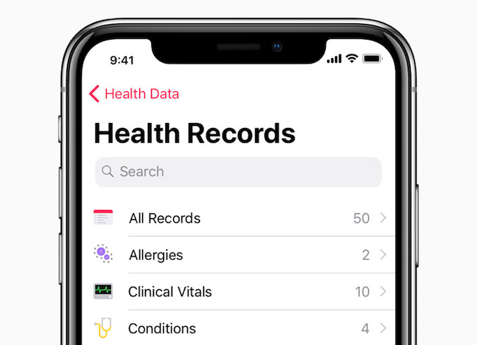 iOS 11.3 Aplicación Salud