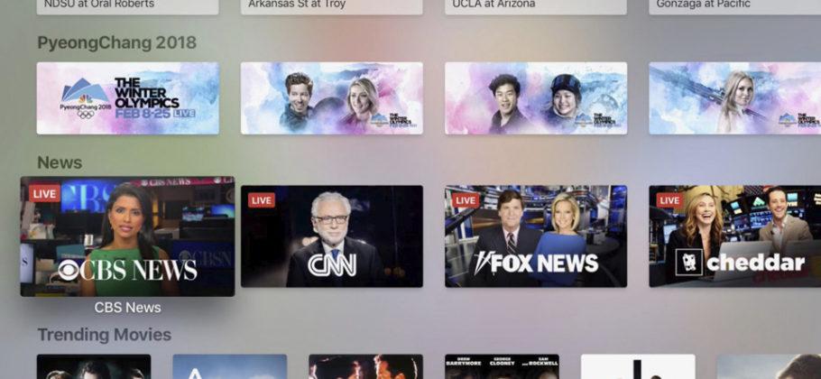 Sección Noticias en Apple TV app