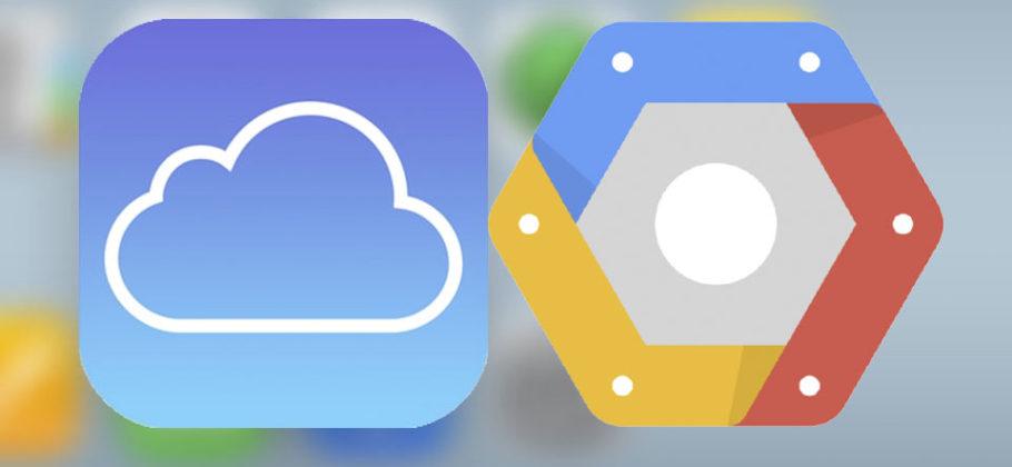 iCloud usa Google Cloud Plattform