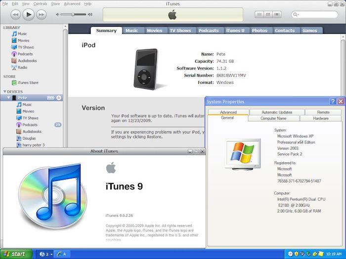 iTunes soporte Windows