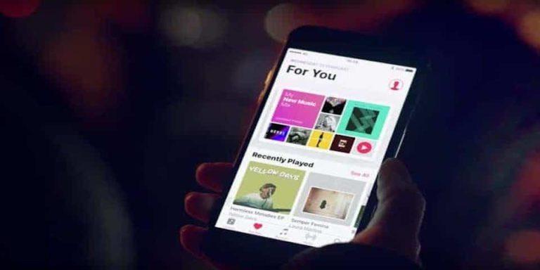 la aplicación apple music