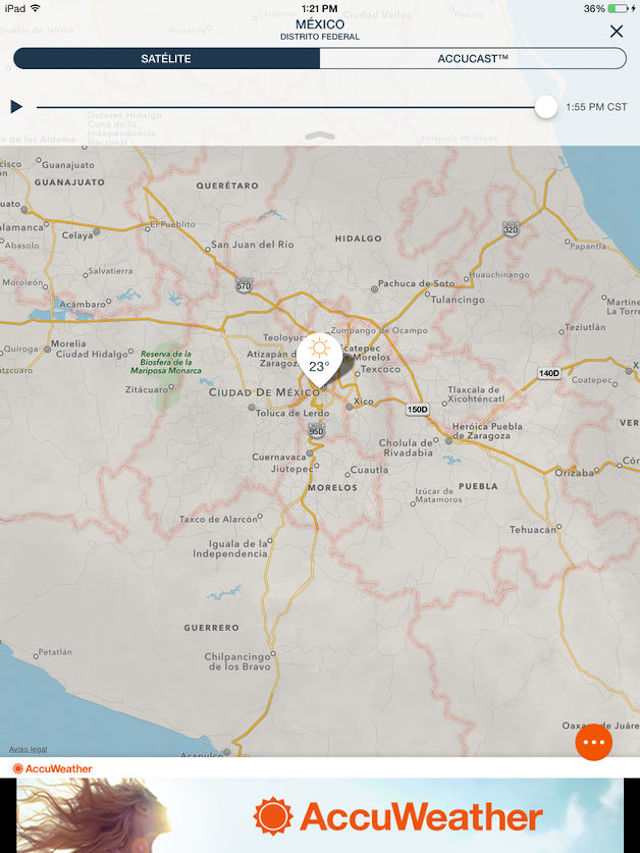 Accuweather - app para iPad