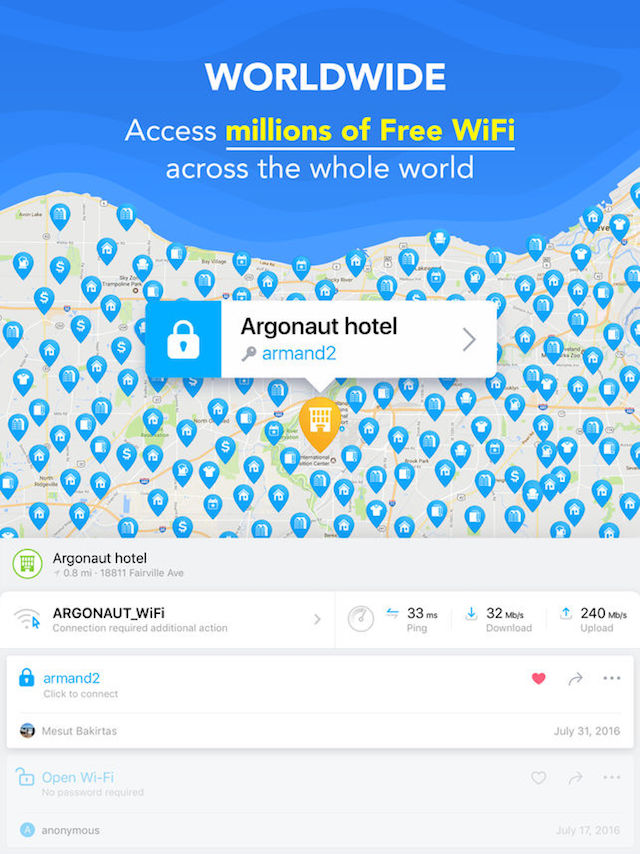 WiFi map para iPad