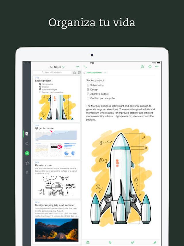 Evernote - app para iPad
