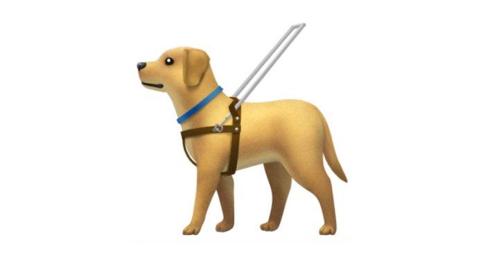 Emoji Apple perro guía arnés