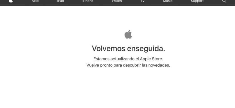 Cartel Apple Volvemos enseguida en Apple Store