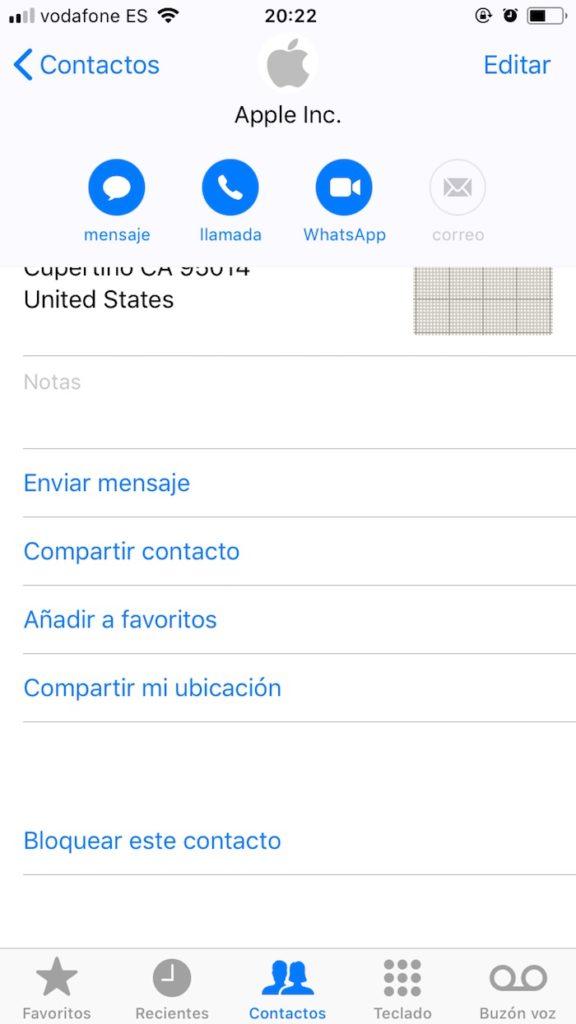 bloquear llamadas iPhone