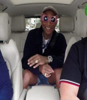 Carpool Karaoke Tim Coom y Pharrell Williams