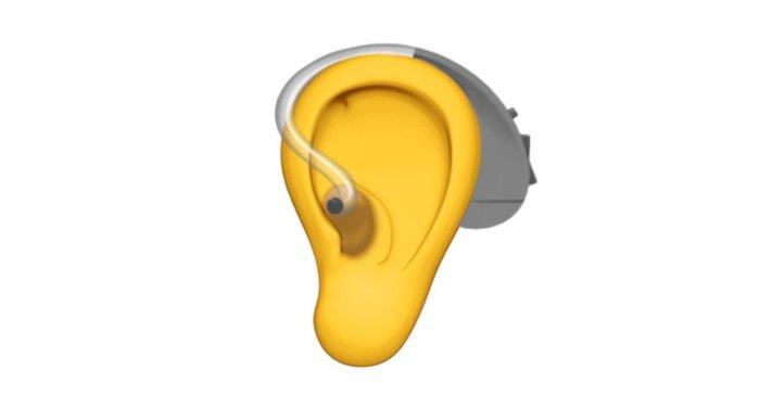Emoji Apple Oído con audífono