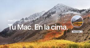 macOS High Sierra Actualización