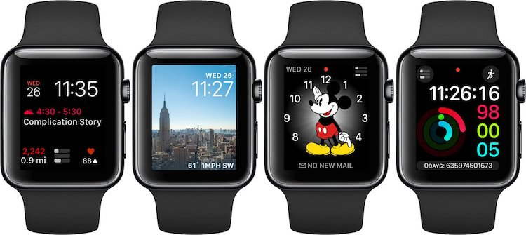 Apple Watch esferas de terceros