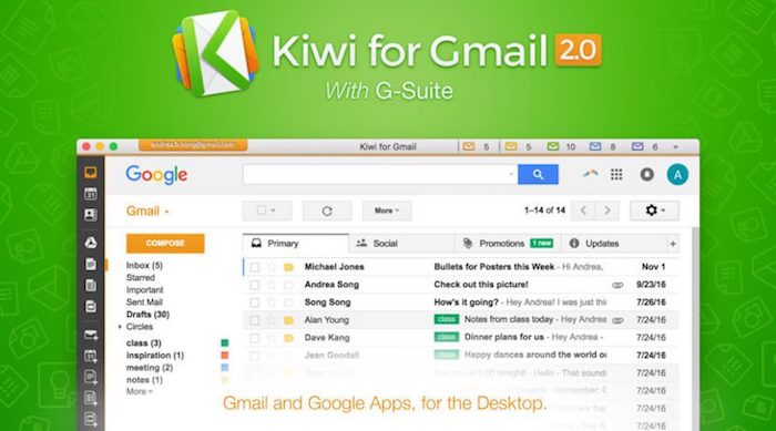 aplicaciones Kiwi for Gmail