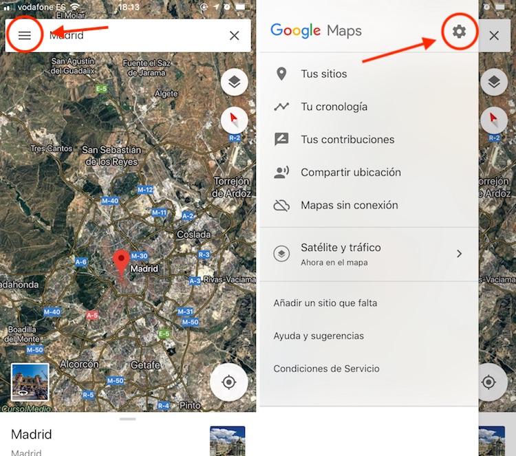 eliminar historial localización iOS Google