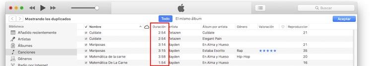 iTunes canciones duplicadas 2