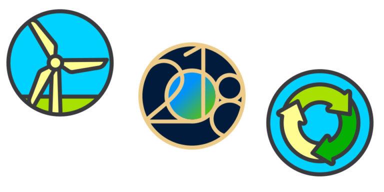 Stickers día de la Tierra 2018