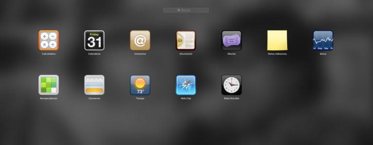 Widgets del Dashboard de macOS High Sierra