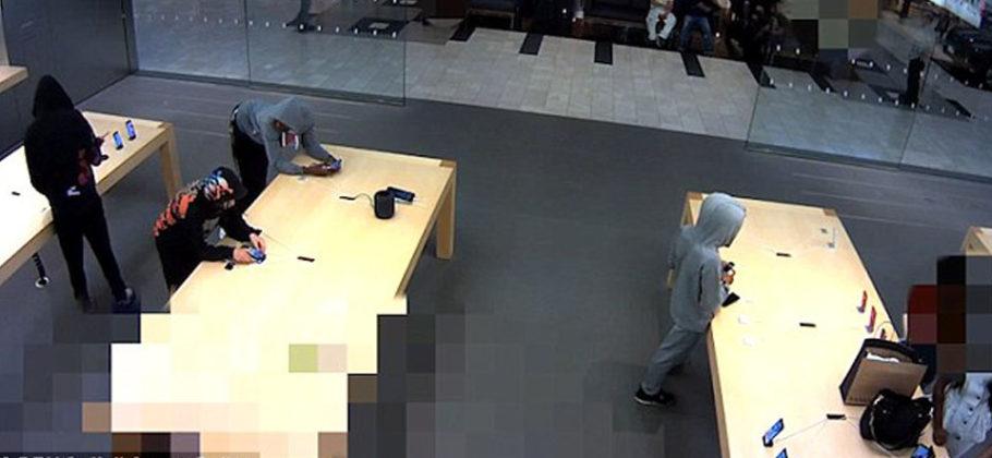 Roban 21 iPhone en Apple Store Nueva York