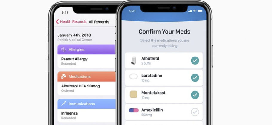 Apple Health en iOS 12
