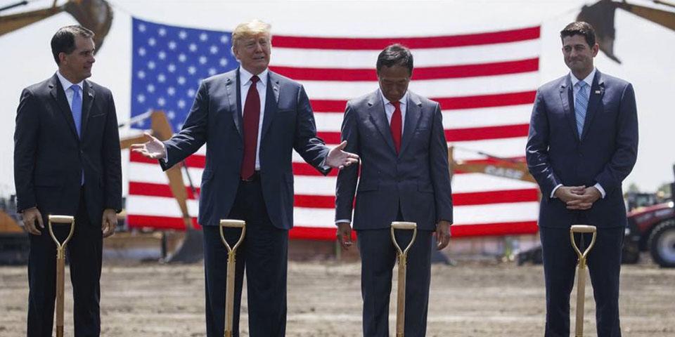 Foxconn comienza las obras en Estados Unidos