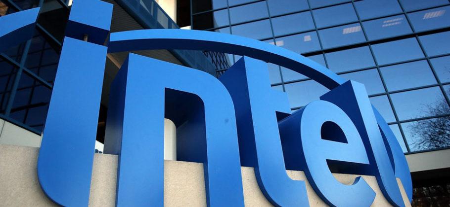 Edificio con el logo de Intel