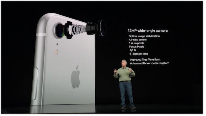 iPhone Xr - detalle de la cámara
