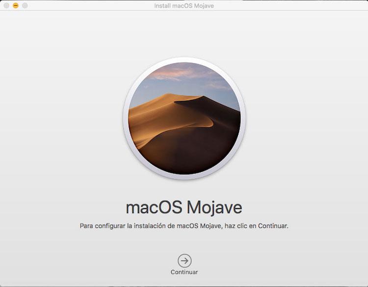 Actualizar macOS Mojave