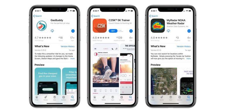 aplicaciones en iOS