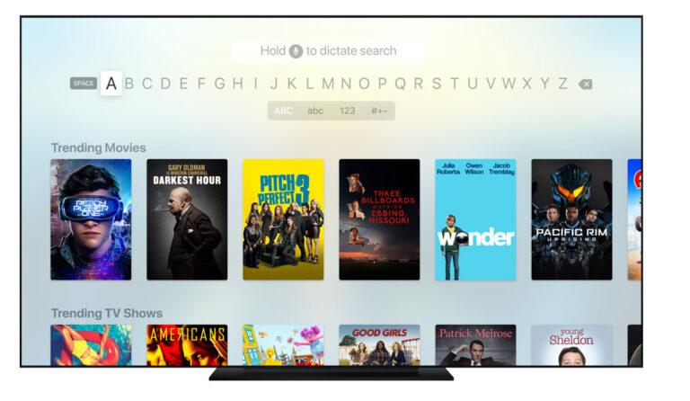 Buscador Apple TV app tvOS 11