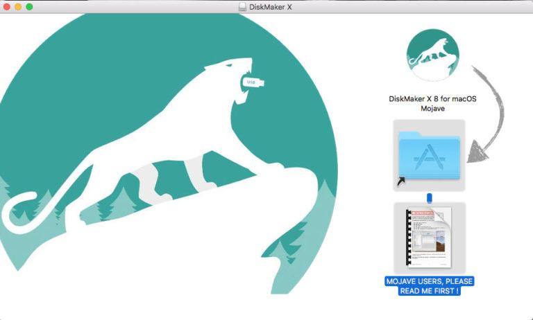 Instalar DiskMaker X para macOS Mojave