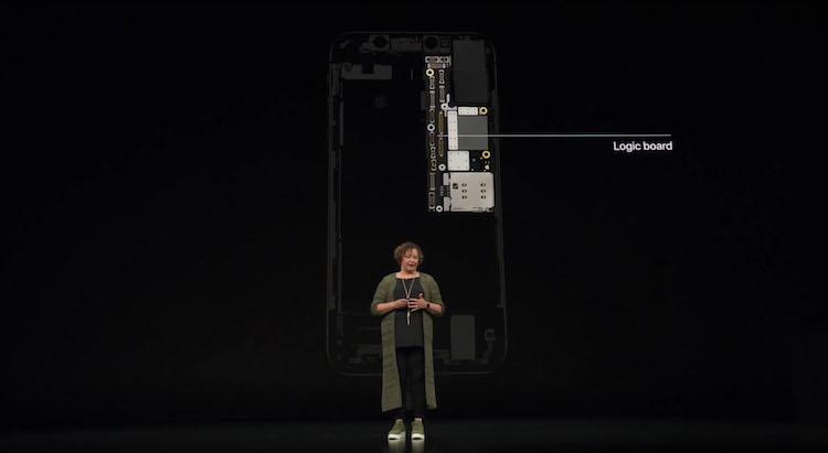 la placa lógica del nuevo iPhone Xs, han usado estaño reciclado
