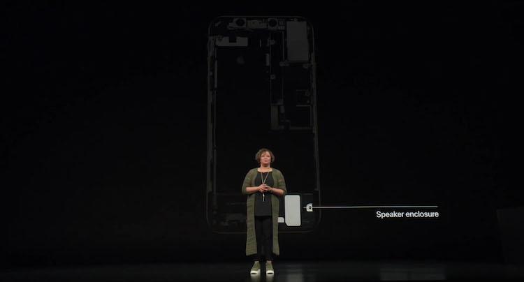 Caja del altavoz del iPhone X