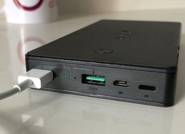 conexiones batería externa Aukey PB-N36 - USB