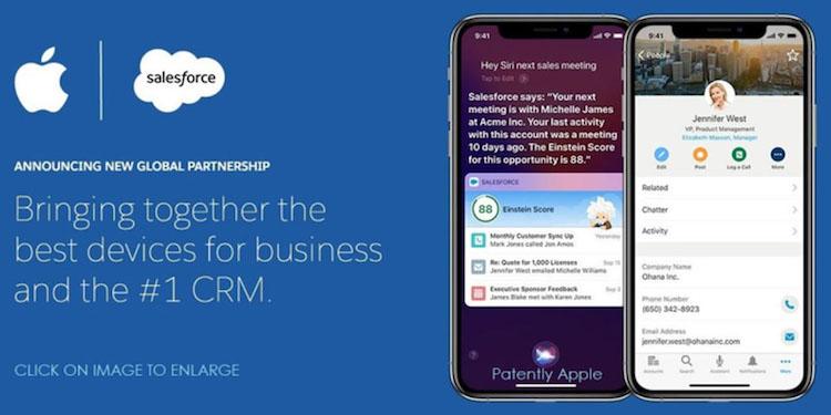 Salesforce y Apple - alianza empresarial