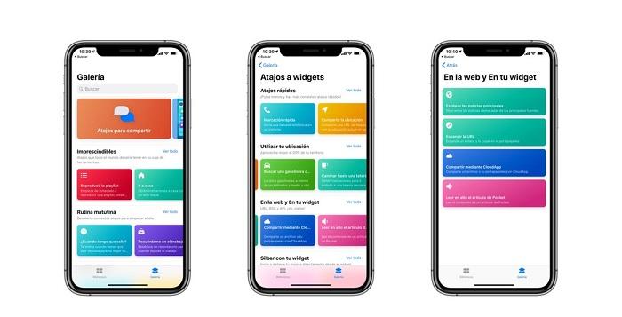 Apps compatibles con la función Atajos de Siri
