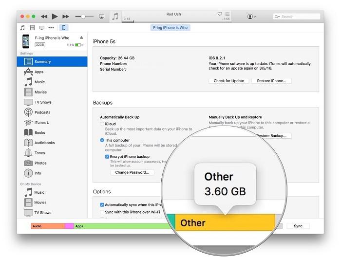 cómo borrar archivos en Otros