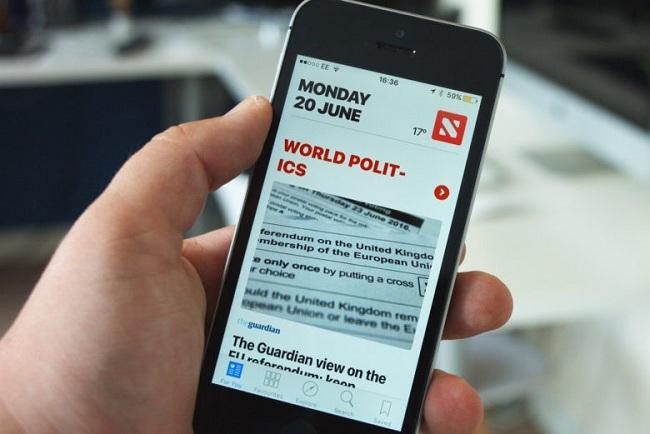 Safari en Apple News