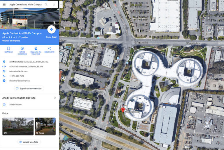 Apple Central And Wolfe Campus - Maps