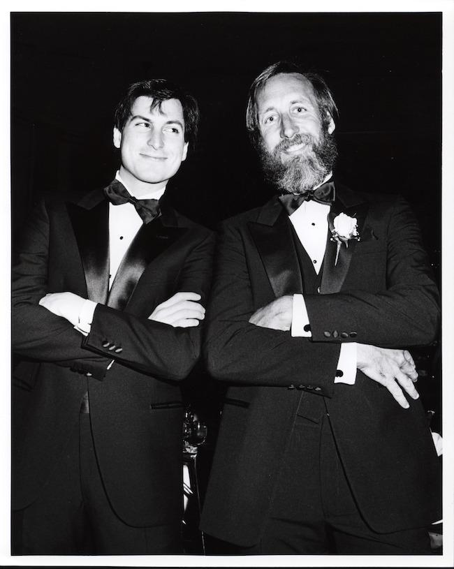 Lee Clow y Steve Jobs en 1984