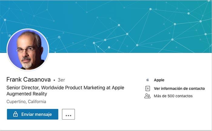 Frank Casanova - responsable Marketing AR Apple