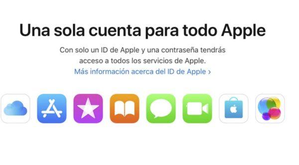 Cambiar cuenta Apple ID