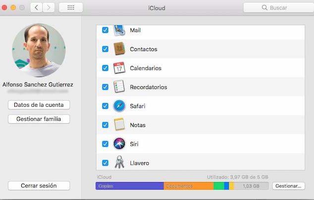 Cuenta iCloud en macOS
