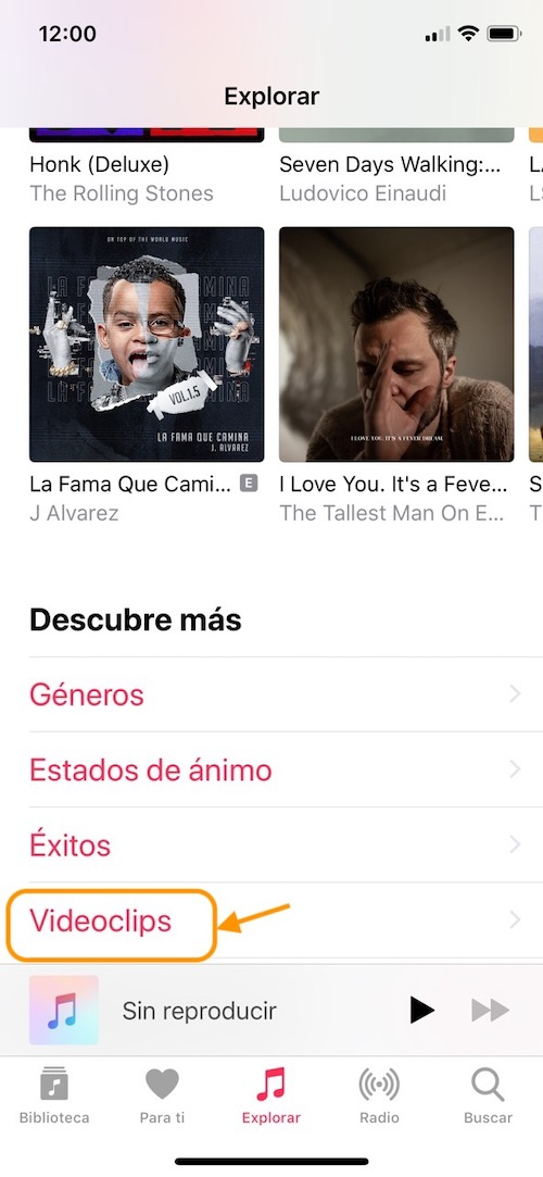 Música en iPhone - Apple Music Vídeos