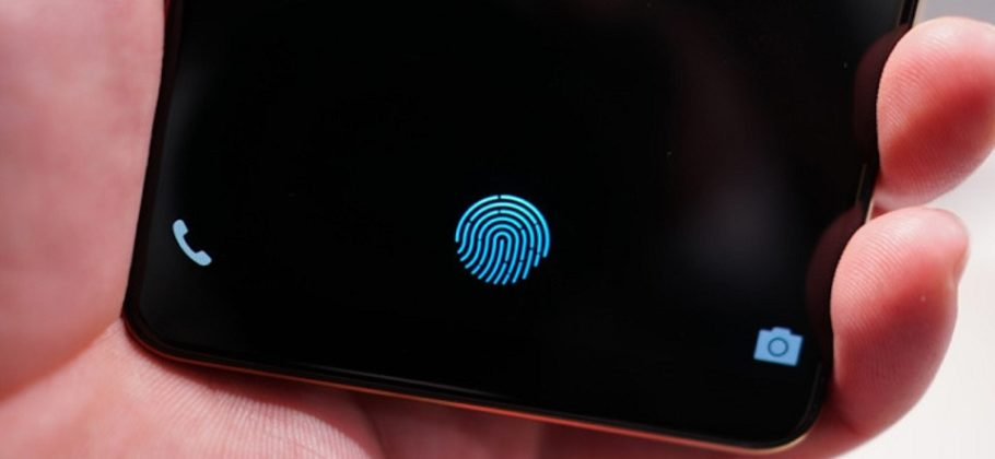 Sensor huellas digitales en la pantalla