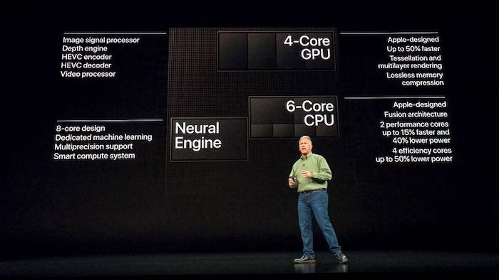 Phil Schiller presentando Apple A12 Bionic