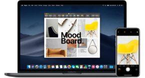 Continuidad cámara macOS Mojave y iPhone