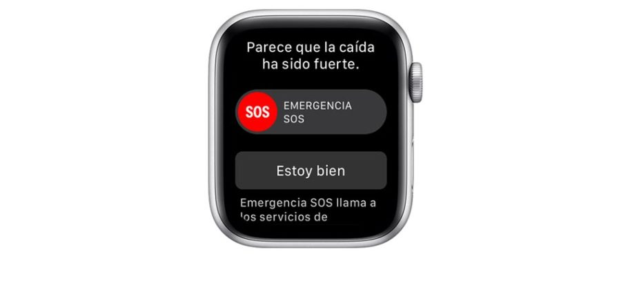 Apple Watch Series 4 - detección caídas