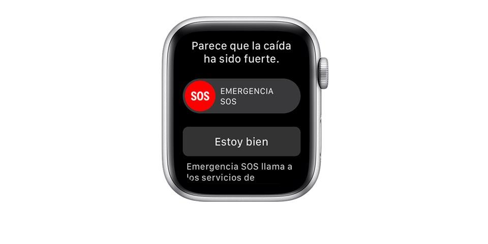 Apple Watch Series 4 - detección caídas