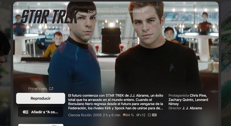 App Apple TV - Contenido de Prime Video