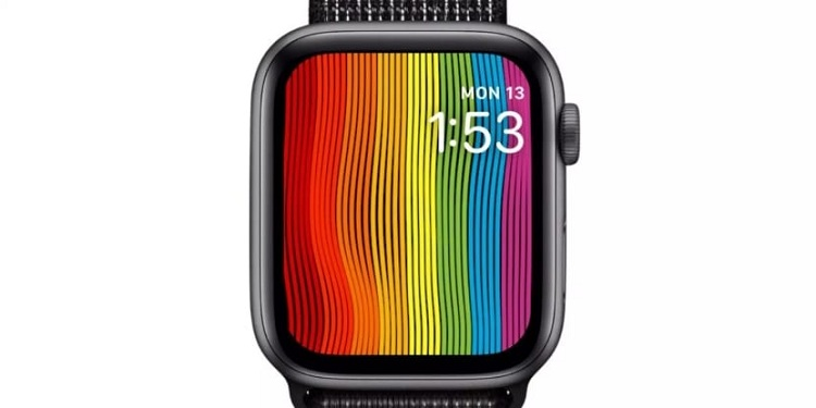 Esfera arco iris del Apple Watch